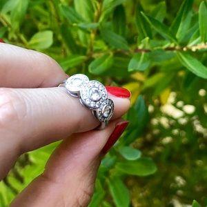 Tiffany Circlet Platinum and Diamond Ring